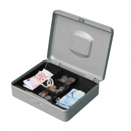 5 Star Facilities Premium Cash Box with Coin Tray Metal Combination Lock